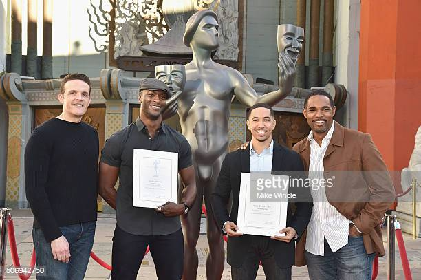 SAG Awards Committee member Woody Schultz actor Aldis Hodge actor Neil Brown Jr and SAG Awards Committee member Jason George attend the 22nd Annual...