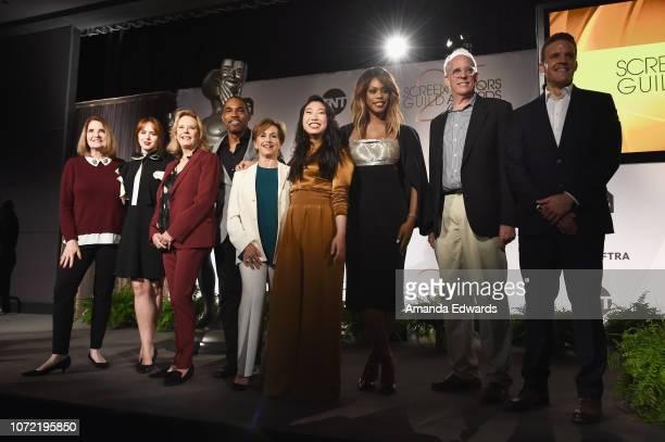 SAG Awards Executive Producer Kathy Connell actors Elizabeth McLaughlin JoBeth Williams Jason George Gabrielle Carteris Awkwafina and Laverne Cox SAG...