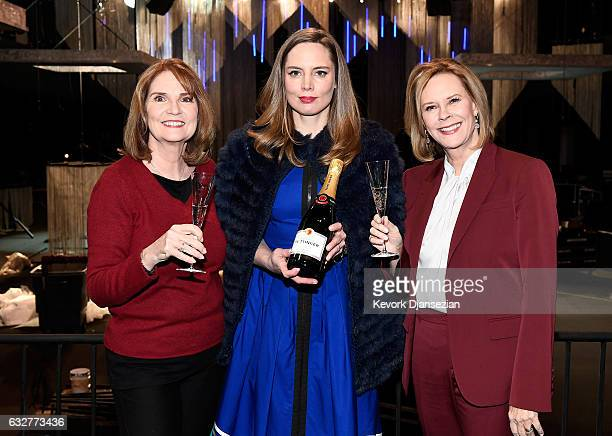 SAG Awards Executive Producer Kathy Connell Champagne Tattinger Global Spokesperson and Artistic Director Vitalie Taittinger and SAG Awards Committee...