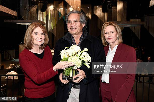 SAG Awards Executive Producer Kathy Connell Florist Christopher Matsumoto and SAG Awards Committee Chair JoBeth Williams attend the SAGAFTRA Auction...