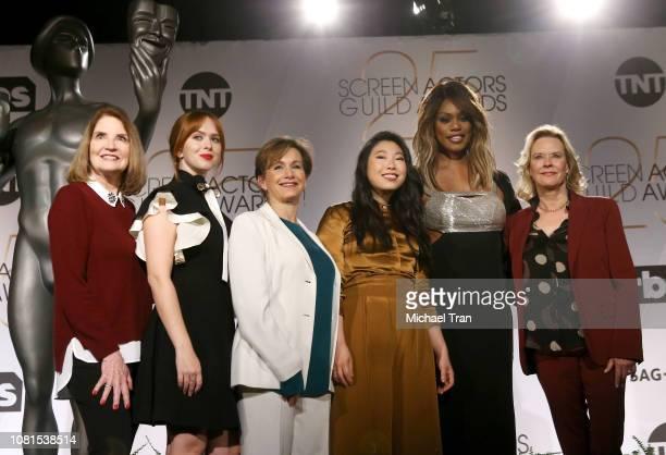 SAG Awards Executive Producer Kathy Connell SAG Awards Committee Member Elizabeth McLaughlin SAGAFTRA President Gabrielle Carteris Awkwafina Laverne...