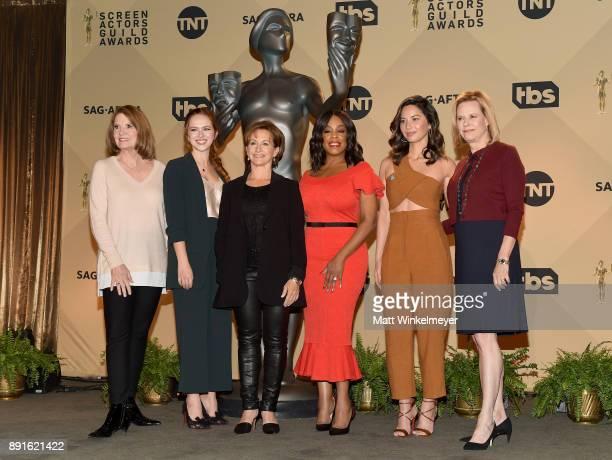 SAG Awards executive producer Kathy Connell SAG Awards Committee Member Elizabeth McLaughlin SAGAFTRA President Gabrielle Carteris actors Niecy Nash...