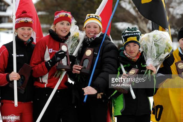 Awards following the Classical Cross Country races during the 2011 NCAA Photos via Getty Images Men and Women's Division I Skiing Championship held...