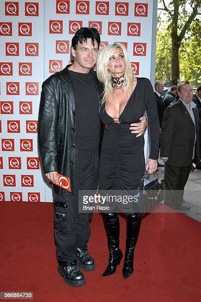 Q Awards Grosvenor House Hotel London Britain 04 Oct 2004 Gary Numan With His Wife