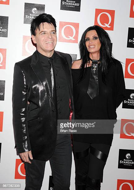 Q Awards Grosvenor House Hotel London Britain 26 Oct 2009 Gary Numan And Wife Gemma