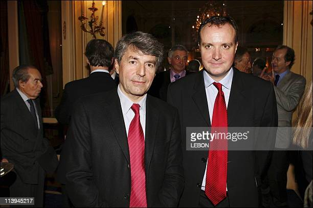 Awards Louis Hachette at the Ritz in Paris France On February 15 2006Alain Genestar and Jerome Begle