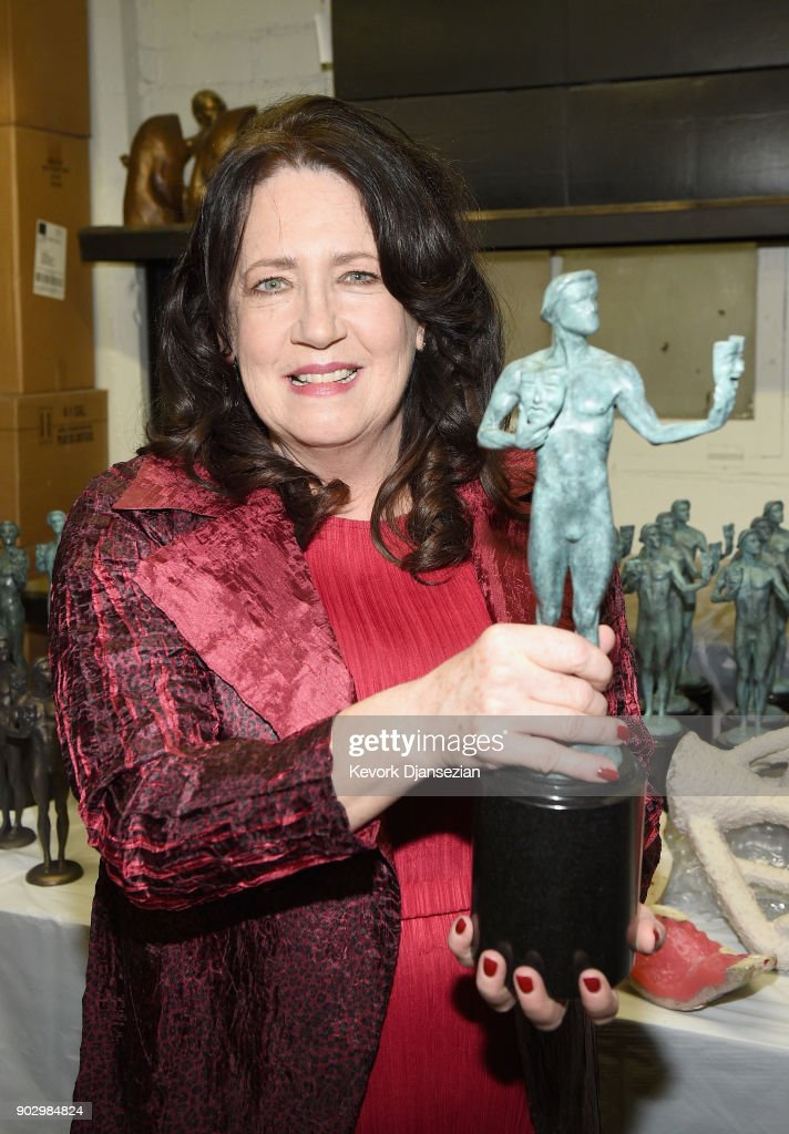 SAG Awards Nominee Ann Dowd at the pouring of the actor statuette for the 24th Annual Screen Actors Guild Awards at American Fine Arts Foundry on January 9, 2018 in Burbank, California. 2018 SAG Actor Statue Pouring. 27522_003.