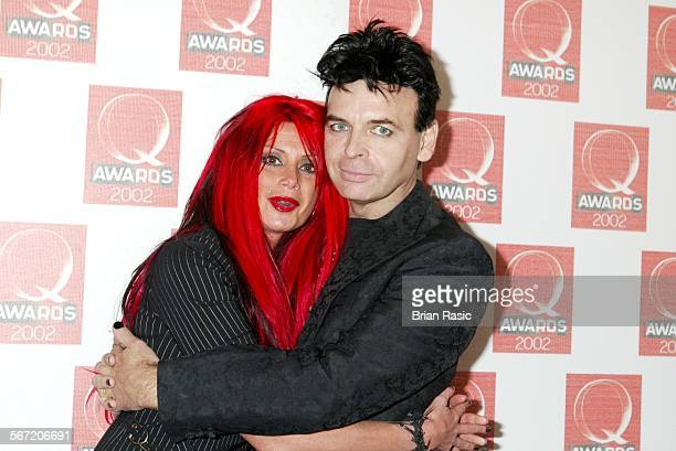 Q Awards Old Saatchi Gallery London Britain 21 Oct 2002 Gary Numan And Wife