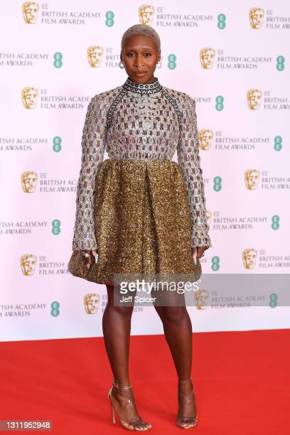 Awards Presenter Cynthia Erivo attends the EE British Academy Film Awards 2021 at the Royal Albert Hall on April 11, 2021 in London, England.