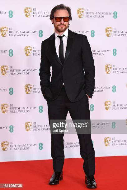 Awards Presenter James McAvoy attends the EE British Academy Film Awards 2021 at the Royal Albert Hall on April 11, 2021 in London, England.