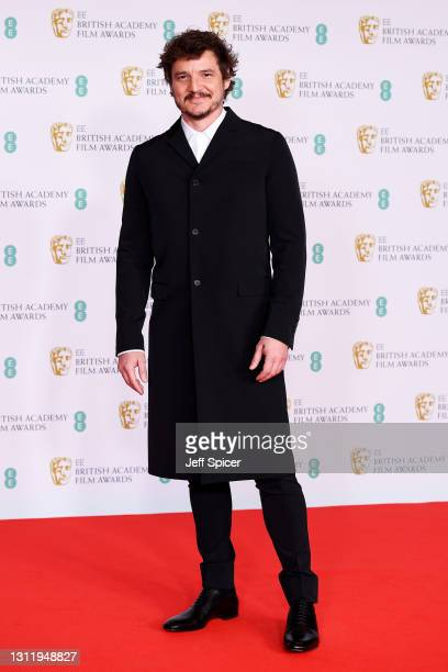 Awards Presenter Pedro Pascal attends the EE British Academy Film Awards 2021 at the Royal Albert Hall on April 11, 2021 in London, England.
