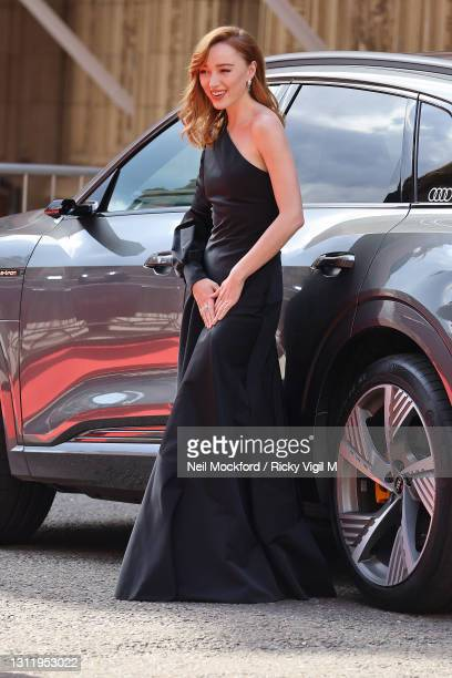 Awards Presenter Phoebe Dynevor seen arriving at the EE British Academy Film Awards 2021 at the Royal Albert Hall on April 11, 2021 in London,...
