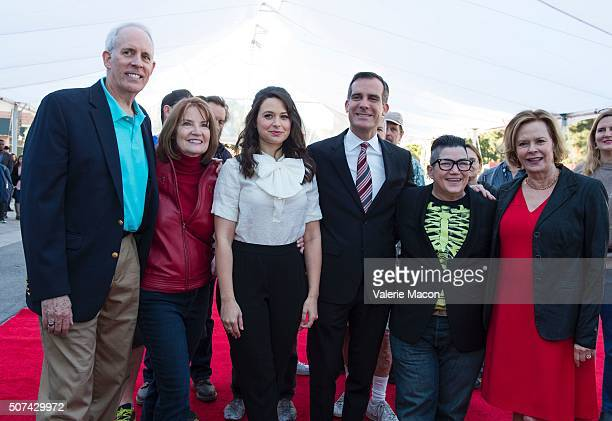 SAG Awards Vice Chair Daryl Anderson SAG Awards Executive Producer Kathy Connell actress Katie Lowes Los Angeles Mayor Eric Garcetti actress Lea...