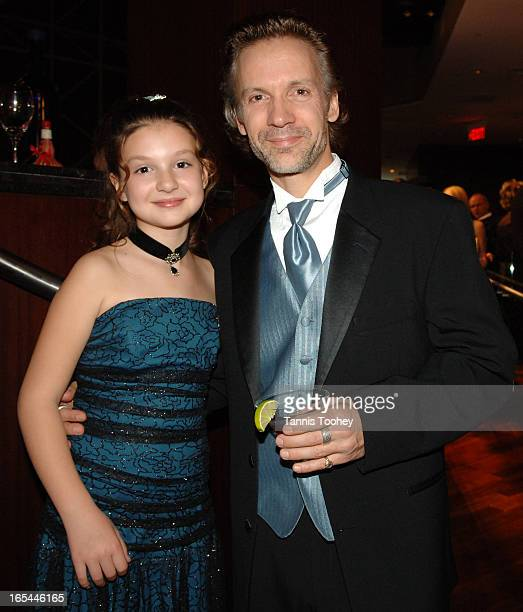 November 19, 2005-Michael Riley with his daughter Dylan attend the Gemini Awards pre-cocktail party at the Azure Restaurant in the Intercontinental...