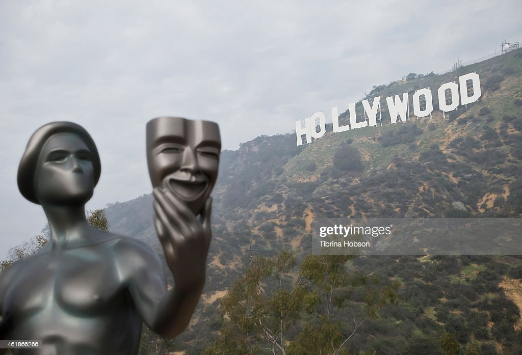 21st Annual SAG Awards 'Actor' Visits The Hollywood Sign : News Photo
