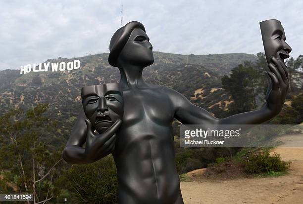 Awards's Actor visits the Hollywood Sign on January 20 2015 in Hollywood California 25184_008