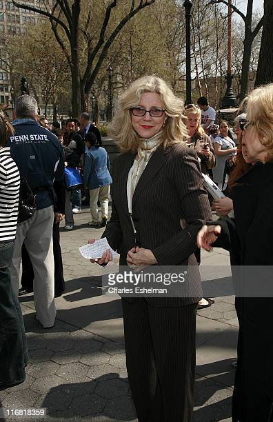 Awardwinning actress and environmental activist Blythe Danner joins Green Activists to Unveil Natural Gas Garbage Trucks at Union Square on April 10...
