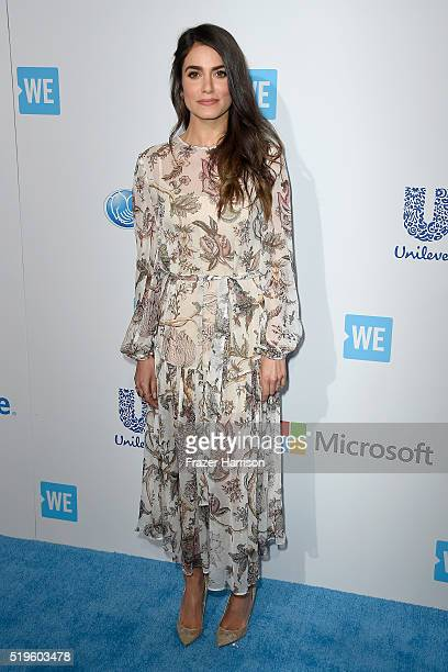 Awardwinning actress and producer Nikki Reed walks the WE Carpet at WE Day California 2016 at The Forum on April 7 2016 in Inglewood California