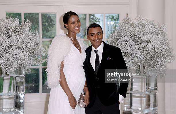 AwardWinning Chef Marcus Samuelsson and his wife model Maya Haile arriv eat the state dinner in honor of President of Finland and the Prime Ministers...