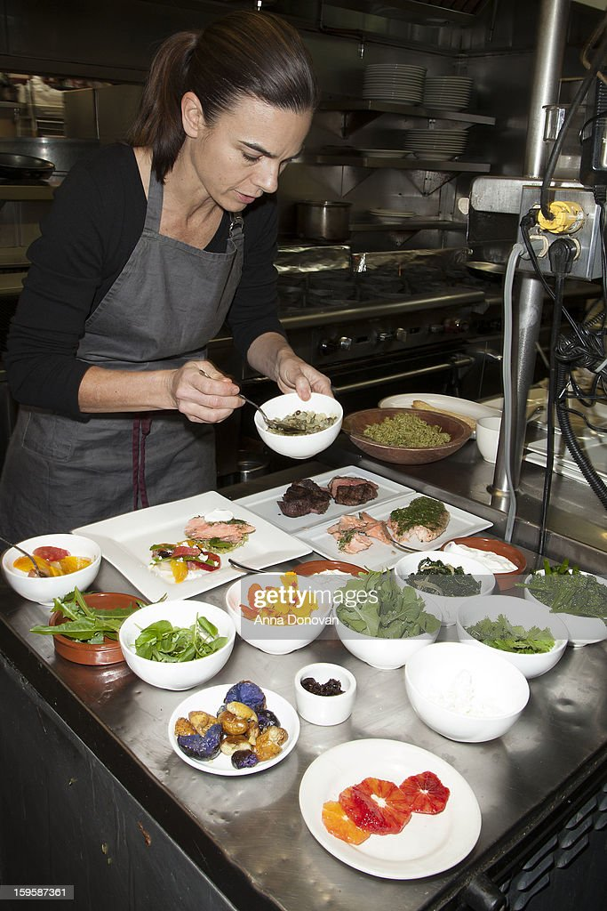 Award-winning chef Suzanne Goin preparing food for The 19th Annual Screen Actors Guild Awards at Lucques Restaurant on January 16, 2013 in Los Angeles, California.