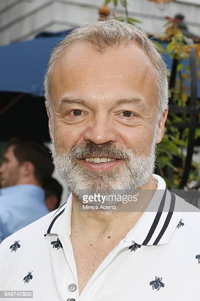 Award-winning comedian, Graham Norton attends Daily Front Row's Boys of Summer party on July 9, 2016 in Water Mill, New York.