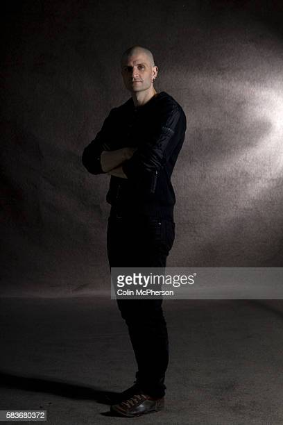 Awardwinning English fantasy fiction author comic writer and academic China Mieville pictured at the Edinburgh International Book Festival where he...