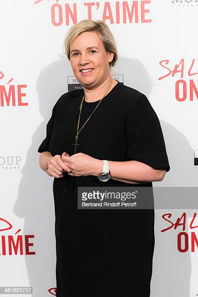 Awardwinning French chef Helene Darroze poses during the premiere of 'Salaud on t'aime' directed by French director Claude Lelouch at Cinema UGC...