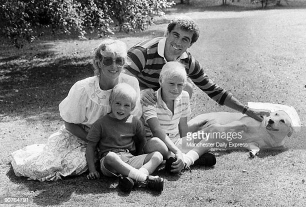 �Away from it all_ Peter Shilton enjoys a relaxing day away from the pressures of bigtime soccer with his wife Susan and children Mike and Sam�...