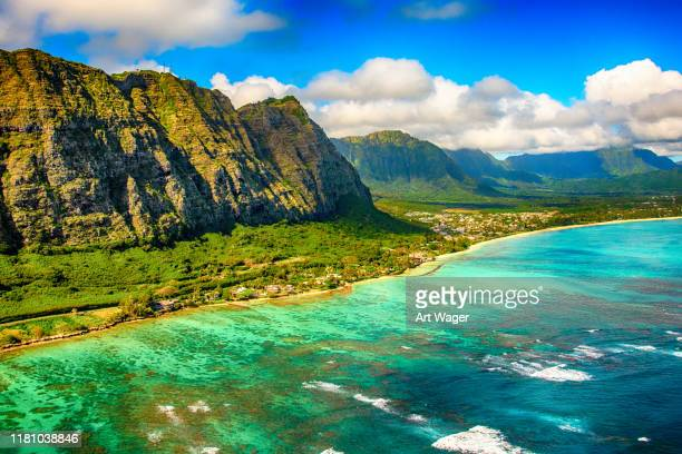 awe inspiring oahu scenic - pacific islands stock pictures, royalty-free photos & images