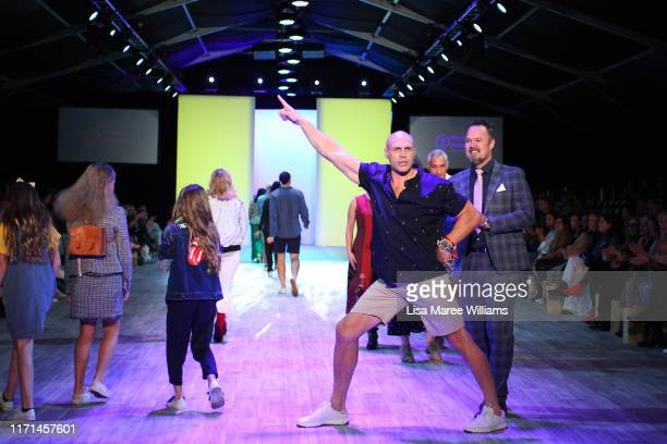 Awen Guttenbeil walks the runway during the Mercy Hospice show at New Zealand Fashion Weekend 2019 on September 01 2019 in Auckland New Zealand