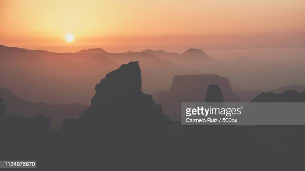 awesome geology - tejeda canary islands stock pictures, royalty-free photos & images