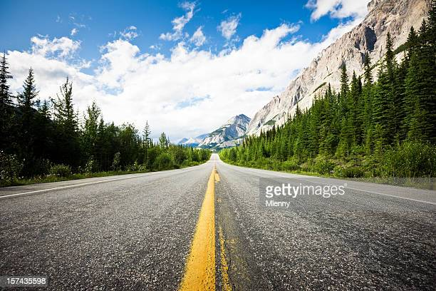 Awesome Highway through Canadian Rockies