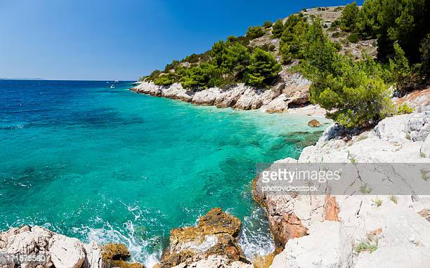 awesome seascape in croatia - hvar stock photos and pictures