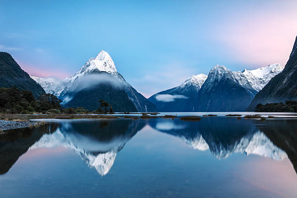 Awesome Sunrise At Milford Sound, New Zealand Wall Art