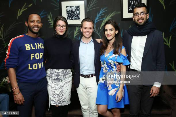Awet Woldegebriel Carla Mastroianni Frans Sjo Natalie Zfat and Samir Goel attend the I Feel Pretty VIP screening brought to you by Luna Bar on April...