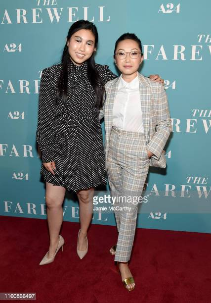 Awkwafina and director Lulu Wang attend The Farewell New York Screening at Metrograph on July 08 2019 in New York City