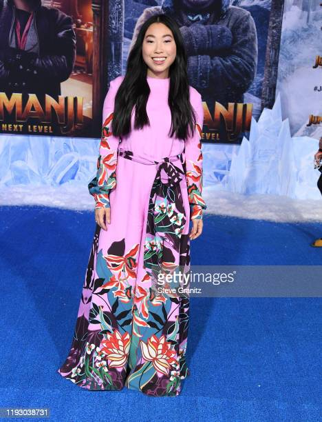 Awkwafina arrives at the Premiere Of Sony Pictures' Jumanji The Next Level on December 09 2019 in Hollywood California