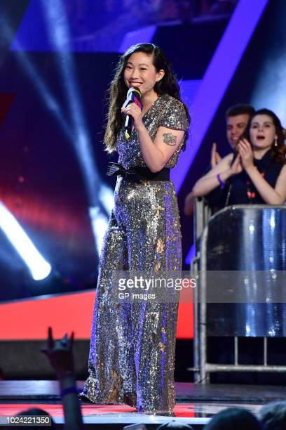 Awkwafina at the 2018 iHeartRADIO MuchMusic Video Awards at MuchMusic HQ on August 26 2018 in Toronto Canada