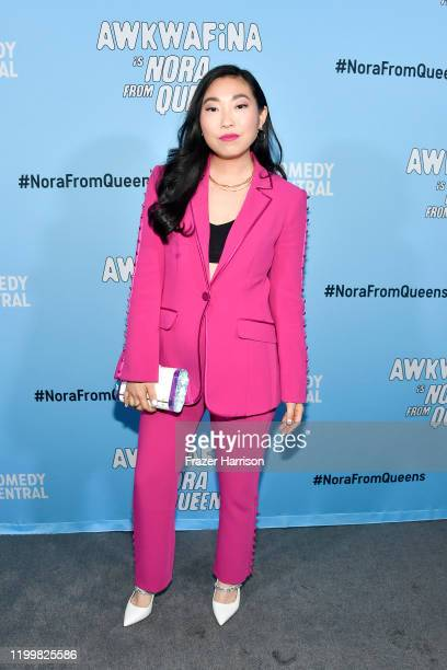 Awkwafina attends Comedy Central's Awkwafina is Nora From Queens Premiere Party at Valentine DTLAon January 15 2020 in Los Angeles California