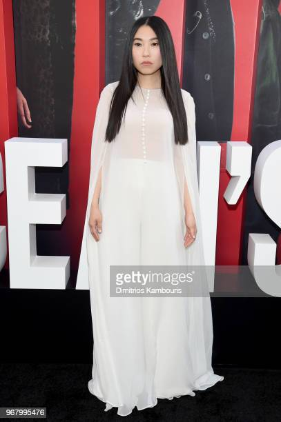 Awkwafina attends Ocean's 8 World Premiere at Alice Tully Hall on June 5 2018 in New York City