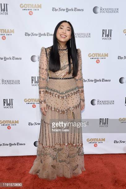 Awkwafina attends the 2019 IFP Gotham Awards with FIJI Water at Cipriani Wall Street on December 02, 2019 in New York City.