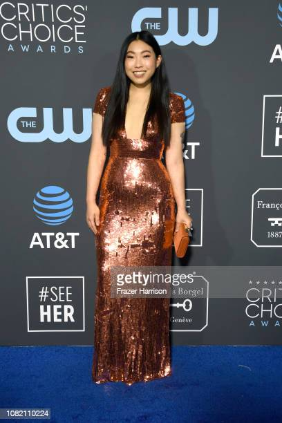 Awkwafina attends the 24th annual Critics' Choice Awards at Barker Hangar on January 13 2019 in Santa Monica California
