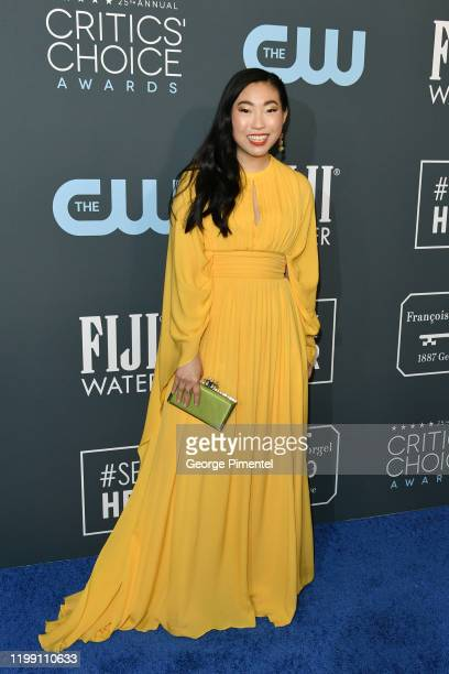 Awkwafina attends the 25th Annual Critics' Choice Awards held at Barker Hangar on January 12 2020 in Santa Monica California