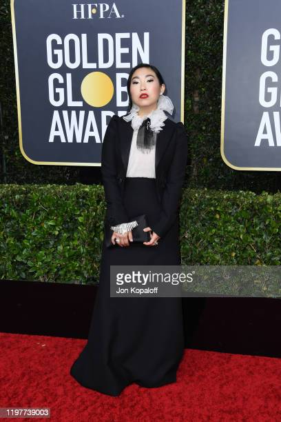Awkwafina attends the 77th Annual Golden Globe Awards at The Beverly Hilton Hotel on January 05 2020 in Beverly Hills California
