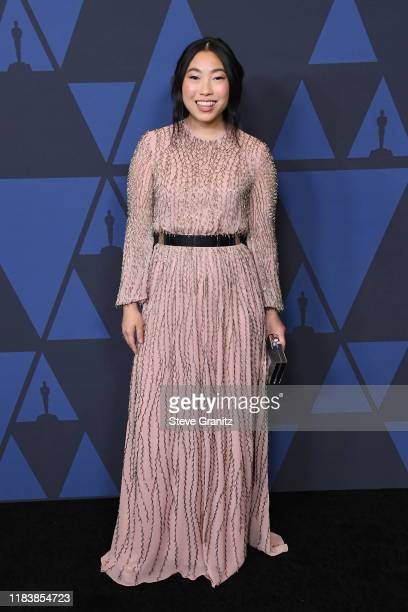 Awkwafina attends the Academy Of Motion Picture Arts And Sciences' 11th Annual Governors Awards at The Ray Dolby Ballroom at Hollywood & Highland...