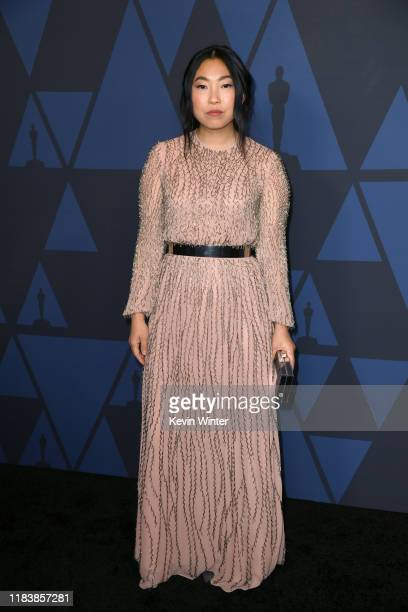 Awkwafina attends the Academy Of Motion Picture Arts And Sciences' 11th Annual Governors Awards at The Ray Dolby Ballroom at Hollywood Highland...