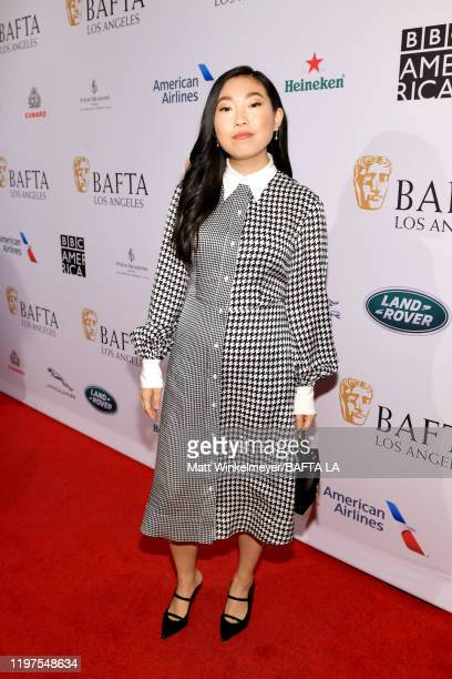 Awkwafina attends The BAFTA Los Angeles Tea Party at Four Seasons Hotel Los Angeles at Beverly Hills on January 04 2020 in Los Angeles California