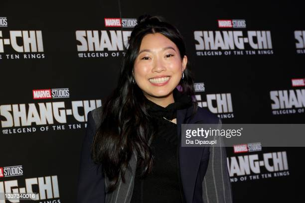 """Awkwafina attends the """"Shang-Chi And The Legend Of The Ten Rings"""" New York Screening at Regal Union Square on August 30, 2021 in New York City."""