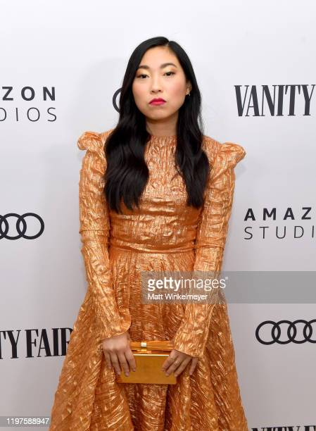 Awkwafina attends Vanity Fair Amazon Studios and Audi Celebrate The 2020 Awards Season at San Vicente Bungalows on January 04 2020 in West Hollywood...