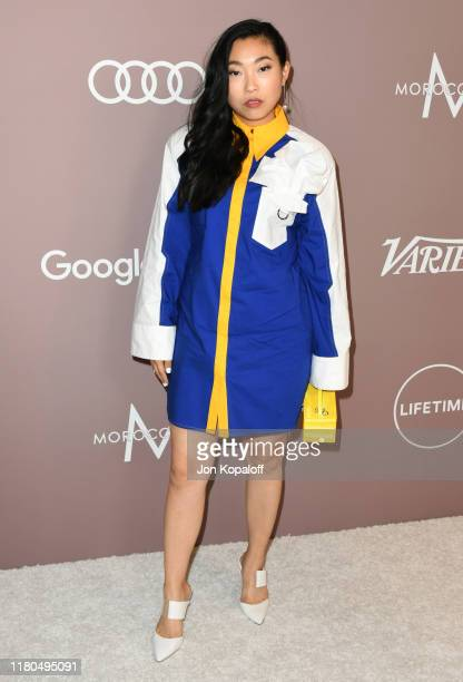 Awkwafina attends Variety's 2019 Power Of Women: Los Angeles Presented By Lifetime at the Beverly Wilshire Four Seasons Hotel on October 11, 2019 in...